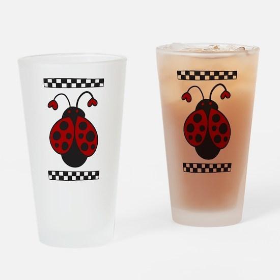 Ladybug Bug Drinking Glass
