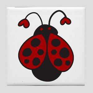 Ladybug Bug Tile Coaster