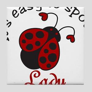 A Lady Tile Coaster