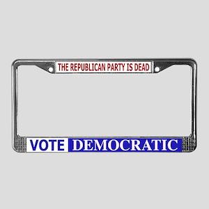 Repub Party Dead Vote Democra License Plate Frame