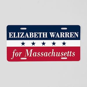 Warren for Massachusetts Aluminum License Plate