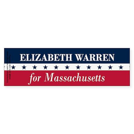 Warren for Massachusetts Sticker (Bumper)
