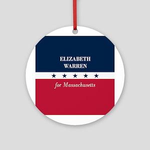 Warren for Massachusetts Ornament (Round)