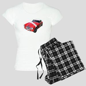 Little Red Austin Healy Car Women's Light Pajamas