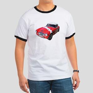 Little Red Austin Healy Car Ringer T