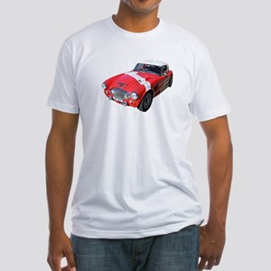 Little Red Austin Healy Car Fitted T-Shirt