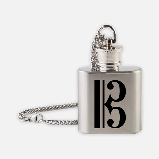 C Clef Flask Necklace