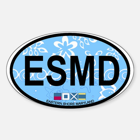 Eastern Shore MD - Oval Design. Sticker (Oval)