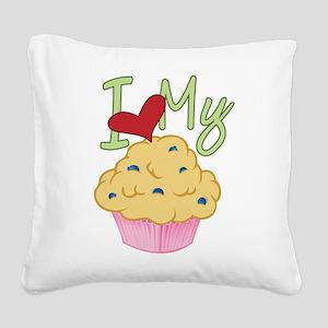 Love Muffin Square Canvas Pillow