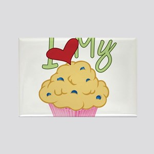 Love Muffin Rectangle Magnet