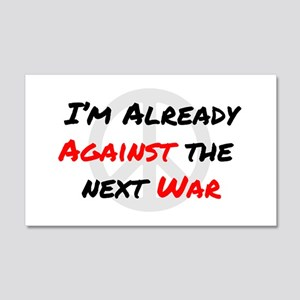 Already Against War 20x12 Wall Decal