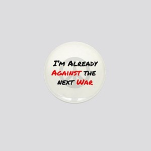 Already Against War Mini Button