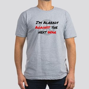 Already Against War Men's Fitted T-Shirt (dark)