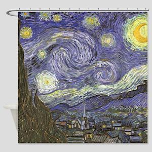 Van Gogh Starry Night Shower Curtain
