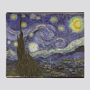 Van Gogh Starry Night Throw Blanket