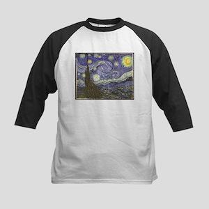 Van Gogh Starry Night Kids Baseball Jersey