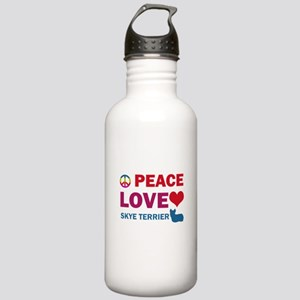 Peace Love Skye Terrier Stainless Water Bottle 1.0