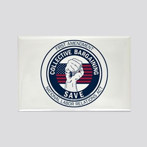 Save Collective Bargaining Rectangle Magnet