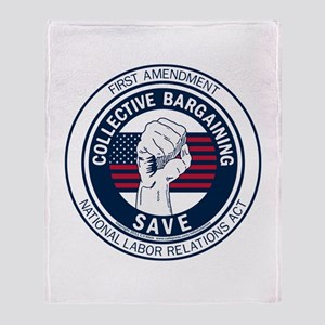 Save Collective Bargaining Throw Blanket