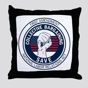 Save Collective Bargaining Throw Pillow