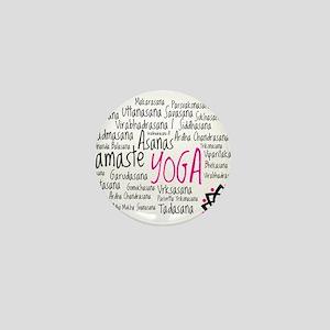 Namaste Yoga Asanas Poses Mini Button