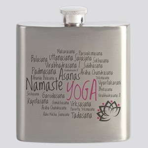 Namaste Yoga Asanas Poses Flask