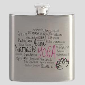 Namaste Yoga Asanas Poses Flask