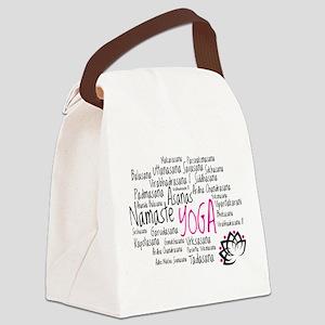 Namaste Yoga Asanas Poses Canvas Lunch Bag