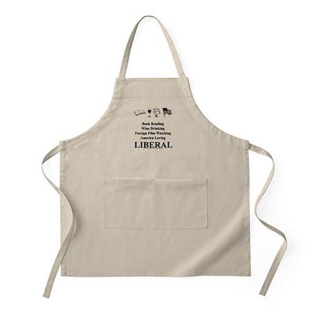Book Wine Film USA Liberal Apron