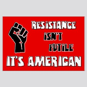 Resistance It's American Large Poster