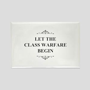 Class Warfare Begin Rectangle Magnet