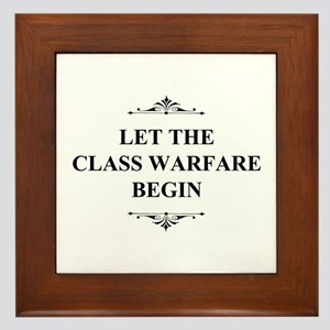 Class Warfare Begin Framed Tile