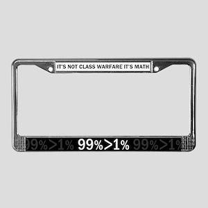 Not Class Warfare Math License Plate Frame