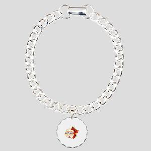Latvian Girlfriend Valentine design Charm Bracelet