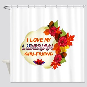 Liberian Girlfriend Valentine design Shower Curtai