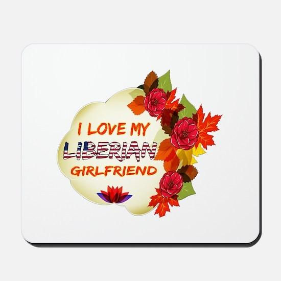 Liberian Girlfriend Valentine design Mousepad