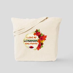 Lithuanian Girlfriend Valentine design Tote Bag