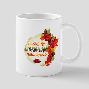 Lithuanian Girlfriend Valentine design Mug