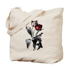 Gothic Dark Tulips Tote Bag
