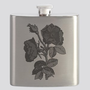 Gothic Black Roses Flask