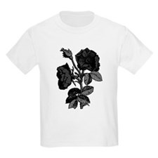 Gothic Black Roses Kids Light T-Shirt