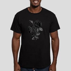 Gothic Black Roses Men's Fitted T-Shirt (dark)