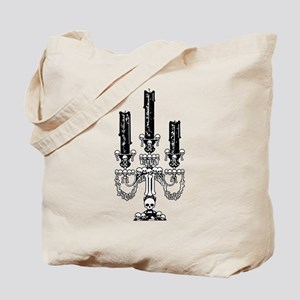 Gothic Skull Candelabra Tote Bag