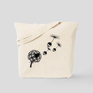 Skull Dandelion Seeds Tote Bag