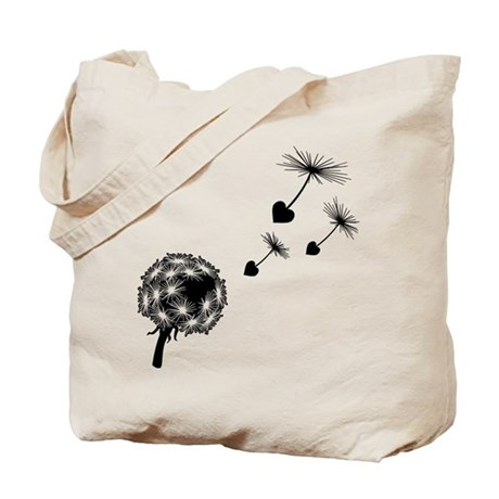 Dandelion Heart Seeds Tote Bag