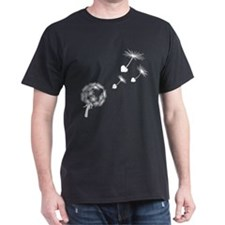 Dandelion Heart Seeds Dark T-Shirt
