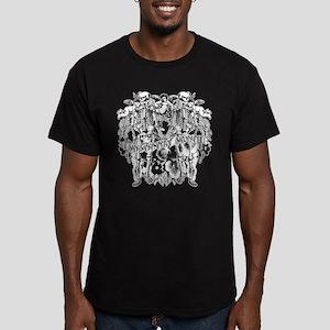 Memento Mori Collage Men's Fitted T-Shirt (dark)