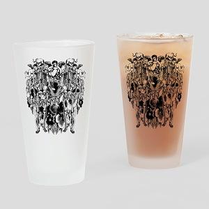 Memento Mori Collage Drinking Glass