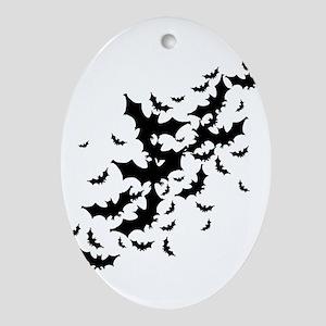 Lots Of Bats Ornament (Oval)