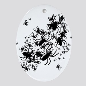 Lots Of Spiders Ornament (Oval)